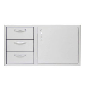 BLAZE 39 INCH ACCESS DOOR AND TRIPLE DRAWER COMBO.